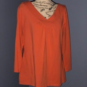 Ann Taylor 3/4 Sleeve Vneck Top XL